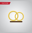 isolated engagement flat icon ring element vector image