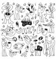 jazz musicians -doodles set vector image vector image