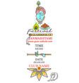 krishna janmashtami festival invitation card vector image vector image