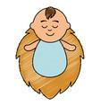 little baby asleep character vector image vector image