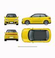 modern compact city car mockup vector image
