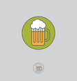 mug beer foam icon linear style vector image