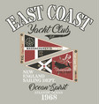 new england yacht club sailing team vector image vector image