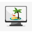 Palm tree of summer and vacation design vector image vector image