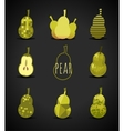 Pear sign vector image vector image