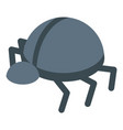 personal information bug icon isometric style vector image vector image