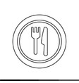plate fork and knife icon design vector image vector image