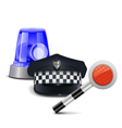 Police Control Concept vector image