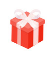 present with winding wide ribbon and bow vector image