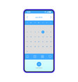 reminder smartphone app interface template