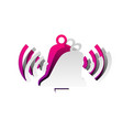 ringing bell icon detachable paper with vector image