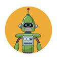 robot technology circle icon vector image
