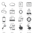 Search Engine Optimization Icons Set vector image vector image