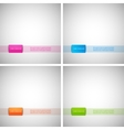 Set of simple backgrounds with colored dies eps vector image vector image