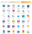 set trendy flat gradient my workspace or vector image