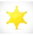 Sheriff star badge cartoon vector image vector image