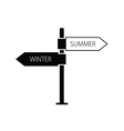 signboard winter summer black vector image vector image