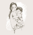 sketch happy family parents and children vector image vector image