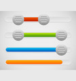 slider adjuster ui elements with knobs and vector image vector image