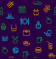 slimming signs thin line icon seamless pattern vector image vector image