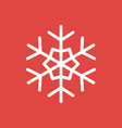 snowflake icon sign placed on red background vector image