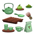tea ceremony set tea time symbols and accessories vector image vector image