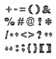 Tire track black symbols vector image vector image