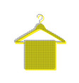 towel on hanger sign yellow icon with vector image vector image