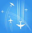 Transport and civil airplanes trajectories vector image vector image
