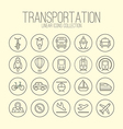 Transportation Linear Icons Collection vector image