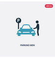 two color parking men icon from transport concept vector image vector image
