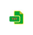 TXT Icon vector image vector image