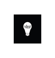 white bulb and idea icon vector image