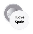 white round pin with text spain vector image vector image