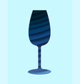 wine glass full color vector image
