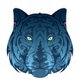 wolf and the forest concept vector image vector image