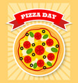 margherita pizza day vector image