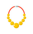 gold beads isolated golden necklace gorget on vector image