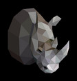 geometric colored rhinoceros vector image