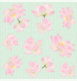 seamless pattern with delicate lotus flowers vector image