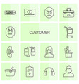 14 customer icons vector image vector image