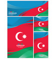 abstract azerbaijan flag background vector image