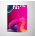 abstract brochure gradients waves background vector image
