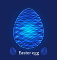 abstract easter eggs on blue background vector image vector image