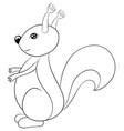 adult coloring bookpage a cute cartoon squirrel vector image