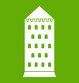 ancient building icon green vector image vector image