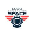 astronaut s protective helmet logo space