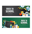back to school cover and banner with education vector image