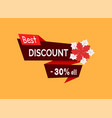best discount 30 percent off red poinsettia vector image vector image