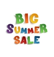 Big summer sale hand drawn typeface vector image
